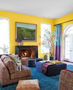 Phòng làm việc, phòng giải trí thay bằng việc sơn xanh tường như phòng ăn