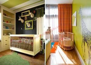 Kết hợp màu xanh lá mạ trong phòng bé yêu thêm lộng lẫy