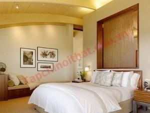 nh sáng trong phòng ngủ cần phải hài hòa, vừa đủ, dịu nhẹ, tạo được sự cân bằng hợp lý,