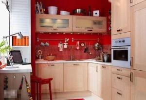 Tủ bếp thường thiết kế bằng gỗ, thuộc hành Mộc