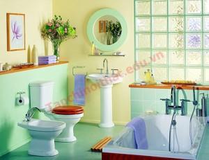 Hãy chọn những gam màu như xám nhạt, kem và xanh dương nhạt cho không gian này