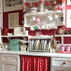 Rèm trang trí cho nhà bếp mang phong cách đồng quê