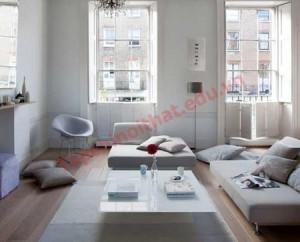 Loại bàn thấp không những tiết kiệm được không gian mà còn phù hợp với nội thất