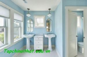 Bồn rửa phòng tắm màu xanh đương đại