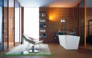 Phòng tắm quyến rũ với đèn