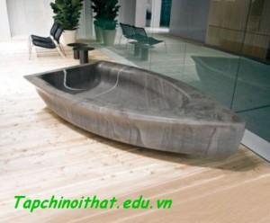 Thoải mái với bồn tắm hình chiếc thuyền