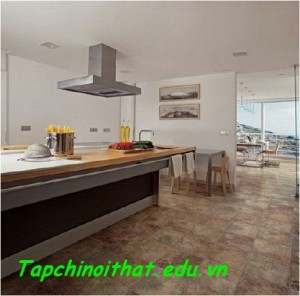 Không gian nhà bếp và phòng ăn