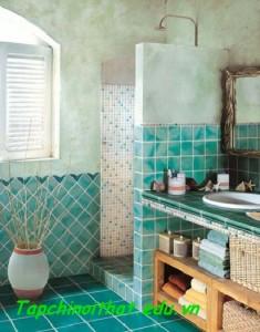 Thiết kế gạch trong phòng tắm hiện đại