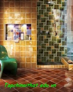 Tác phẩm nghệ thuật trong phòng tắm