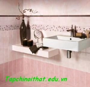 Sàn gạch với gam màu hồng