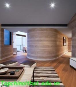 Ngôi nhà với thiết kế nội thất bằng gỗ