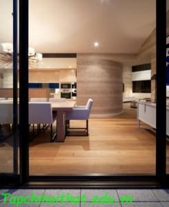 Phong cách nội thất gỗ hiện đại