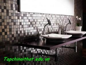 Nhà tắm bằng phụ kiện kim loại