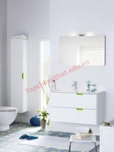 Chậu rửa bằng sứ có thể đi kèm đôn, treo tường, đặt trên giá đỡ kết hợp với tủ đựng hoặc đặt rời..