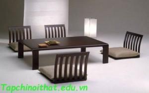 Những mẫu bàn ăn phong cách Nhật Bản
