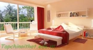 Phòng ngủ với không gian mở