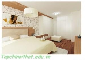 Phòng ngủ màu trắng tinh tế