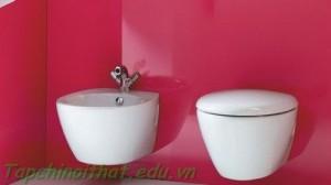 Nhà vệ sinh với phong cách hợp thời trang