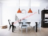 Màu sắc đen - trắng lặp lại có chủ ý chính để tạo nên sự liên kết hoàn hảo cho phòng ăn