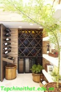 Khu vực hầm rượu