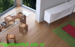Nội thất phòng ăn hiện đại bằng gỗ
