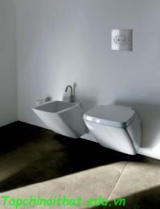 Nội thất phòng tắm màu trắng từ AXA