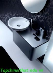 Tủ phòng tắm bo tròn hiện đại từ 'Karol'
