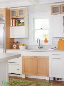 Phong cách mới cho nhà bếp với tủ bếp trắng