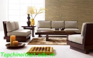 Phòng khách với nội thất bằng da