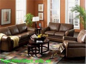 Thiết kế sofa da cổ điển