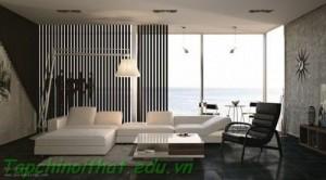 Thiết kế nội thất trắng đen