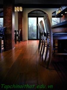 Màu tối của gỗ hiện đại