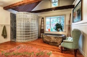Sự kết hợp của bồn tắm bằng đá
