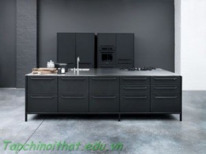 Tủ bếp màu đen từ Vipp