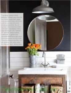Phòng tắm gương tròn