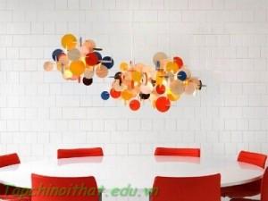 Trang trí nội thất dạng hình học cho nhà