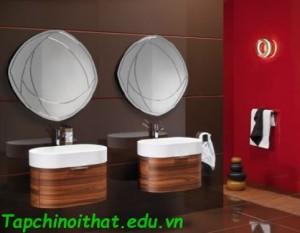 Trang trí tường và nội thất phòng tắm hiện đại từ Regia