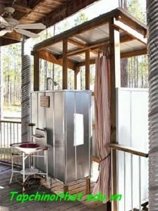 Nhà tắm từ thùng chứa