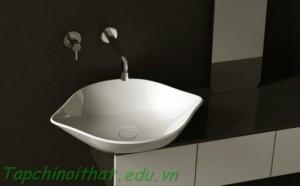 Bồn rửa màu trắng