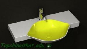 Bồn rửa màu vàng tươi