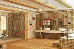 Gỗ để trang trí cho nội thất không chỉ là những tấm lớn, thanh dài mà còn hiện hữu trong những tiểu tiết nhỏ như một miếng đáp cho hộc đèn tường