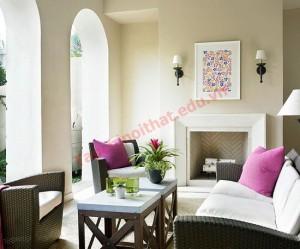 Màu sắc hiện đại cho hiên nhà thêm đẹp