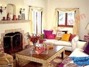 Nhà đẹp với phòng khách dân dã