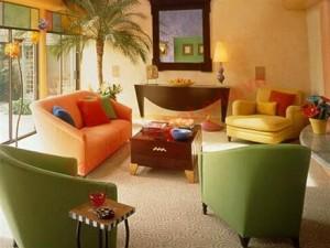 Cách trang trí và phối màu cho căn phòng theo kiểu này nên được áp dụng và bài trí cho phòng khách và phòng ăn.