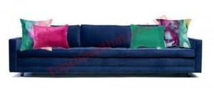 Căn phòng sẽ đậm chất nghệ thuật khi vải may gối tựa như tranh màu nước.
