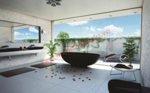 Phòng tắm thoáng khí tràn đầy năng lượng