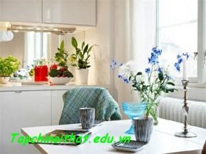 Bài trí hoa tươi thu hút vượng tài