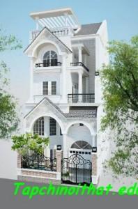 Thiết kế biệt thự nhà phố đẹp theo phong cách cổ điển