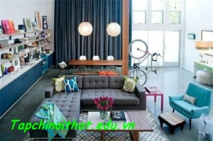 Bài trí căn hộ tuyệt đẹp với gam màu xanh lam