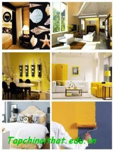 Màu sắc kết hợp lạ mắt trong thiết kế nhà